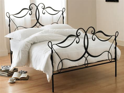 wrought iron bed frame montpellier black wrought iron bed montpellier black