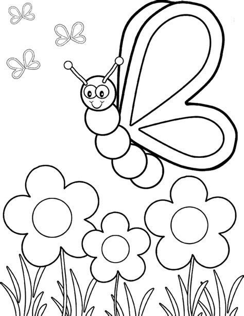 cartoon butterfly coloring home