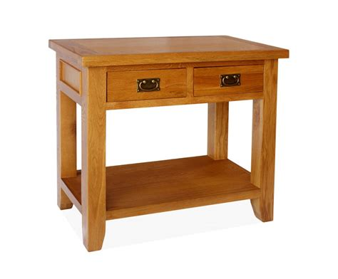 Canterbury Oak Console Table With 2 Drawers