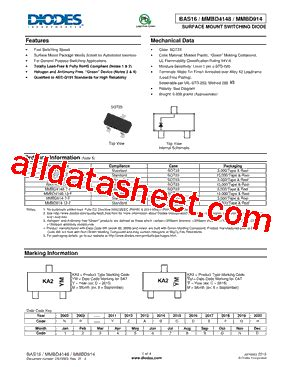 diodes incorporated 1n4148w 7 f mmbd4148 7 f データシート pdf diodes incorporated