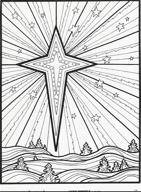 coloring page of the christmas star 8 christmas coloring pages for adults