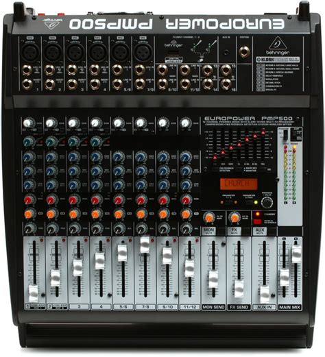 Power Mixer Behringer 12 Channel behringer europower pmp500 12 channel 500w powered mixer