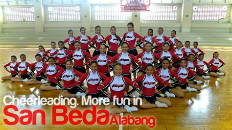 San Beda College Alabang Letterhead San Beda Alabang Jr Varsity Cheerleading Squad Gets Ready For Redemption San Beda Sports Archive