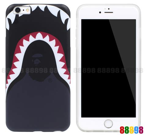 Iphone 6 6s Bape Bathing Ape Stickerbomb Shark Hardcase Cover a bathing ape bape shark tpu soft phone cover for iphone 7 7 plus 6 6s ebay