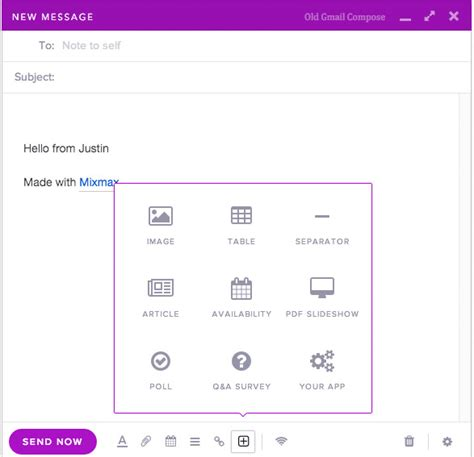 interactive email template compose interactive emails in gmail with mixmax