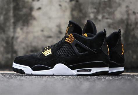air 4 royalty black gold release date sneaker bar