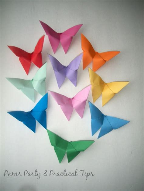 How To Make Paper Butterflies - steps in origami butterfly comot