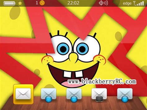 themes spongebob blackberry cute spongebob os7 icon themes for 89xx 96xx 9700 themes