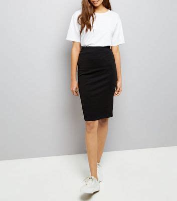 black textured pencil skirt new look bluewater 163 12 99