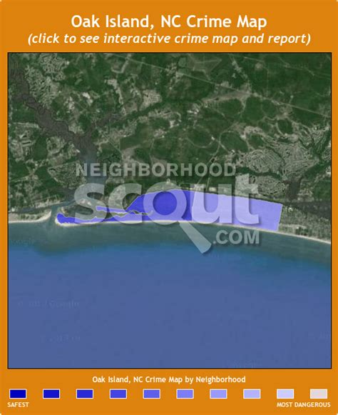 map of oak island carolina oak island 28465 crime rates and crime statistics