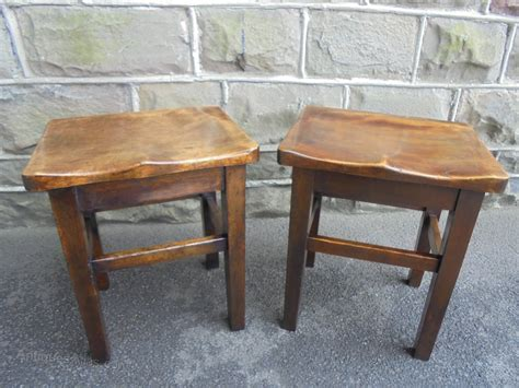 Saddle Stools For Sale by Pair Antique Saddle Seat Stools Antiques Atlas