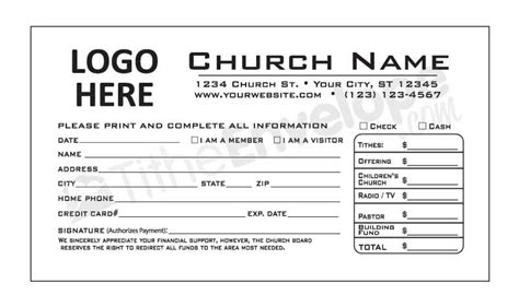 church offering envelope template pledge card templates quotes