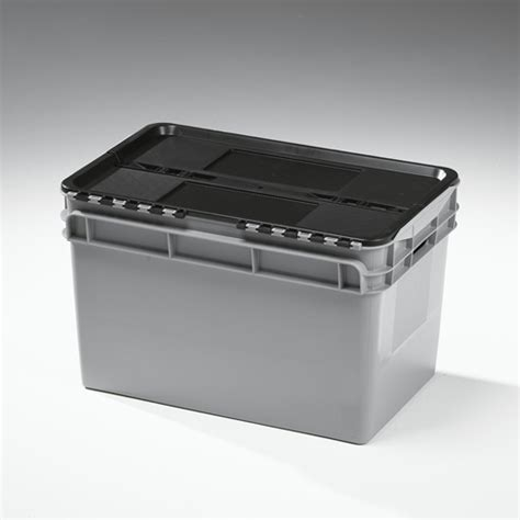 Box Container Sinplas 60lt Berkualitas 60lt grey lidded crate 5100 silverlock quote website