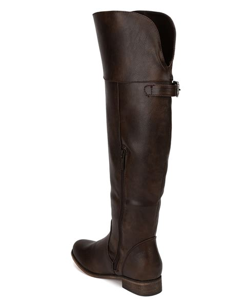 breckelles rider 24 new leatherette buckle toe