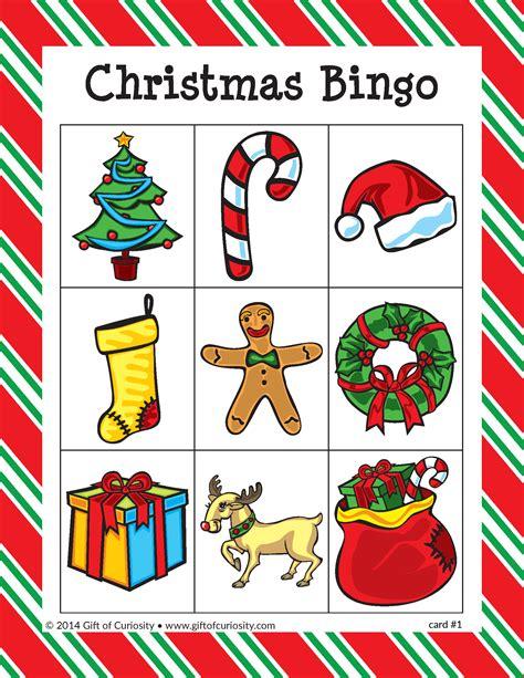 christmas bingo gift of curiosity