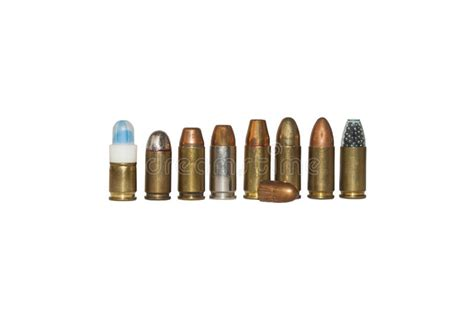 Shot And Bullets Caliber 9mm Different Types Stock Photo Image | shot and bullets caliber 9mm different types stock photo