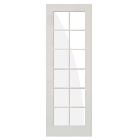 Prehung Interior Door With Glass Krosswood Doors 36 In X 96 In Shaker 12 Lite Composite Mdf Primed Wood Clear Low E Glass Right