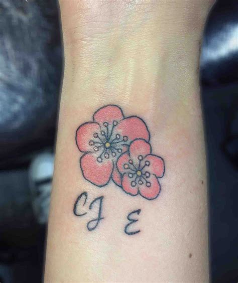 initial tattoos fonts cherry blossom and initials cherryblossom