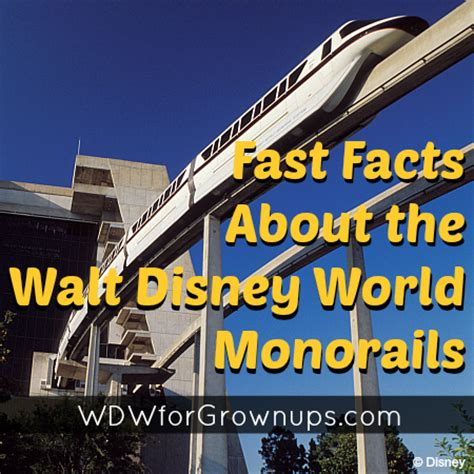 fast facts about walt disney world monorails