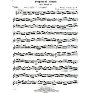 Perpetual Motion Suzuki Paganini Niccolo Moto Perpetuo Perpetual Motion Op