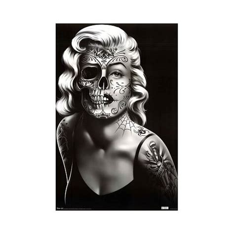marilyn monroe with tattoos poster 54 best skull makeups images on