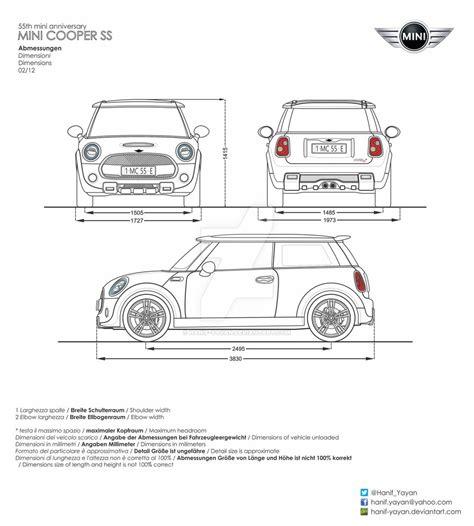 Mini Blue Print Mini Cooper Ss 55th Anniversary Blueprint By Hanif Yayan