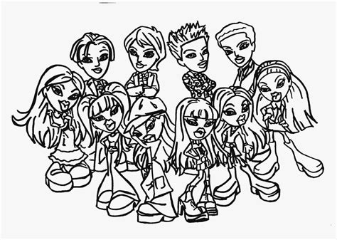 Bratz Babyz Coloring Pages To Print Coloring Home Bratz Babyz Coloring Pages
