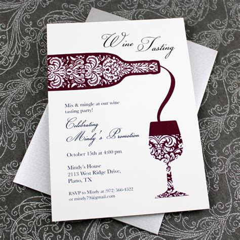 wine tasting invitation template download print