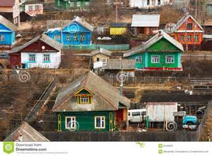 Rural House Plans traditional russian houses stock photo image 9145620