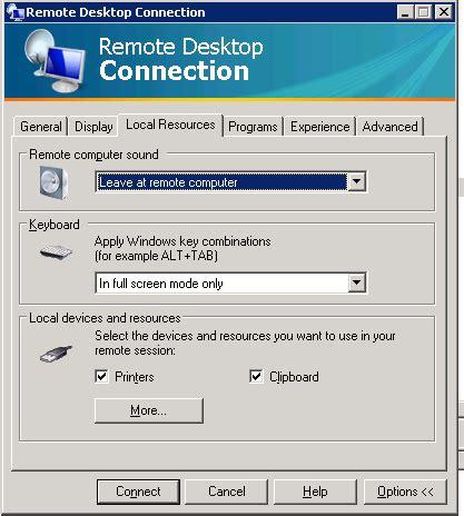 rdp console windows audio on remote computer using remote