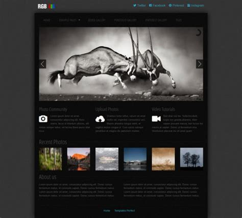 templates perfect  photo gallery css web template