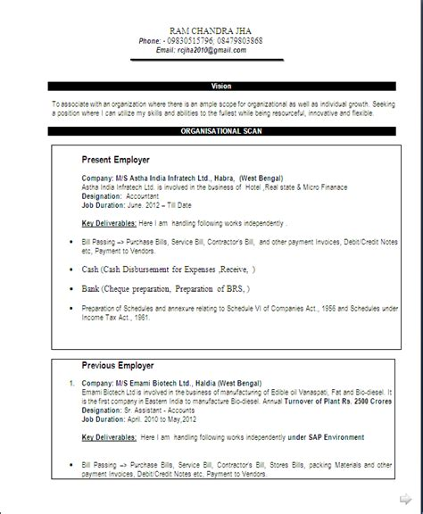 resume format for commerce graduate fresher resume sle commerce graduate 13 years of rich experiance resume formats