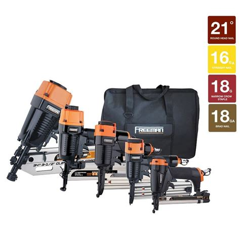 freeman framing finish combo nail gun kit 5