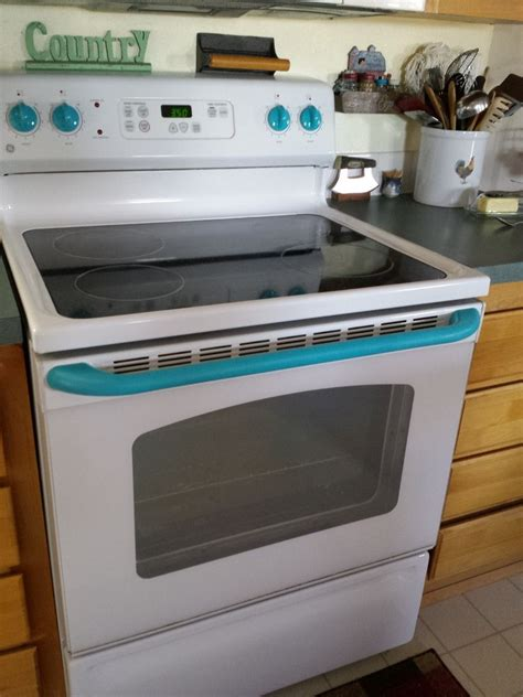 painting kitchen appliances hometalk give your white stove a touch of vintage