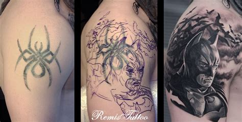 batman logo tattoo cover up batman tattoo cover up by remistattoo on deviantart