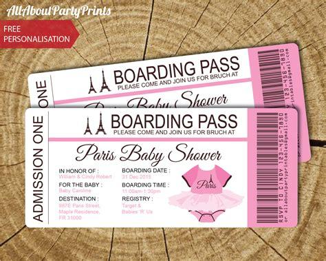 boarding pass invitation template baby shower passport and boarding pass