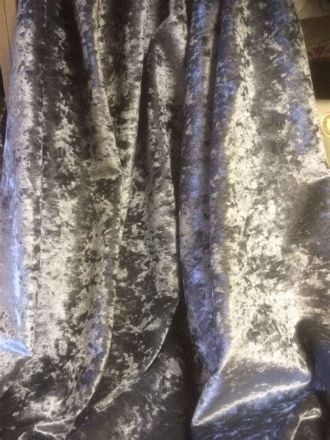 Crushed Velvet Fabric For Curtains Crushed Velvet Look Silver In Silver By Curtain Fabric Store Curtain Fabric Store