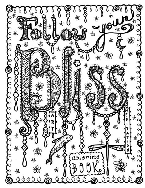 coloring pages bliss color chart bliss coloring book of inspirational art for you by