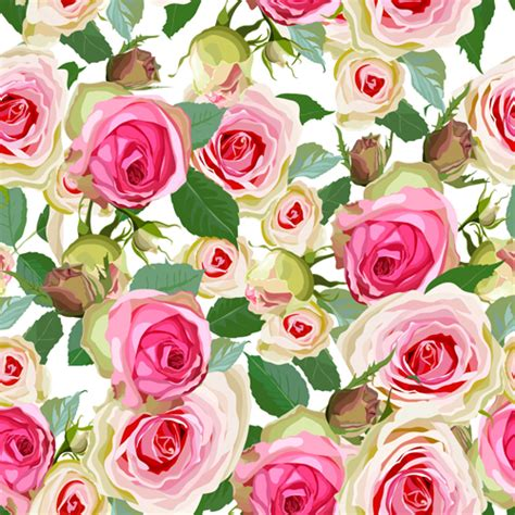 download pattern rose seamless pink roses vector pattern vector flower free