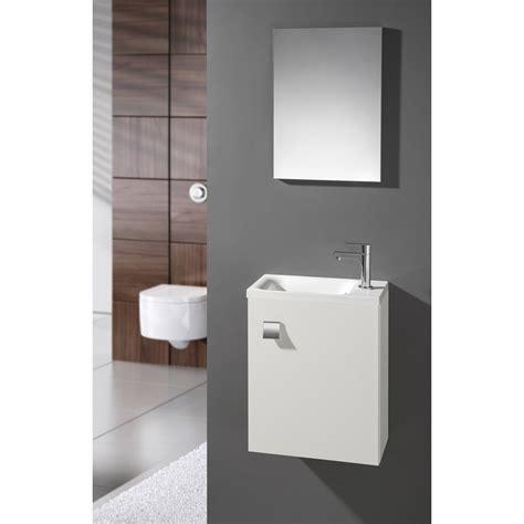 Lave Mains Leroy Merlin 2059 meuble lave mains avec miroir blanc blanc n 176 0 coin d o