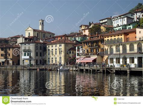 Iseo Lago Hotel Iseo Italy Europe town of peschiera iseo lake italy stock photo image of