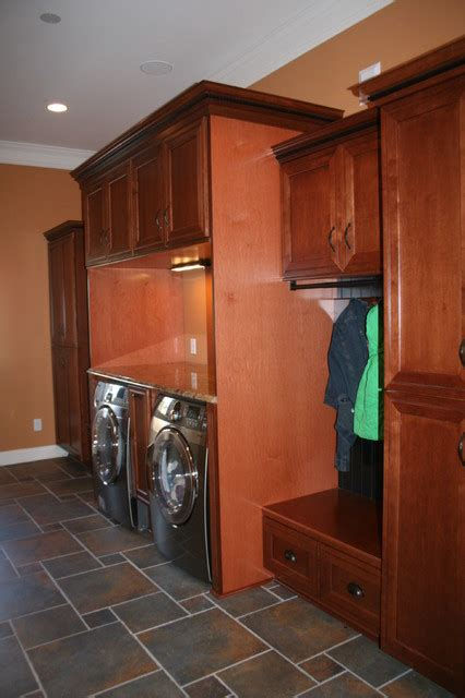 Kraftmaid Laundry Room Cabinets Kraftmaid Ashbury Maple Sheehy Traditional Laundry Room By Lowes Of Indian