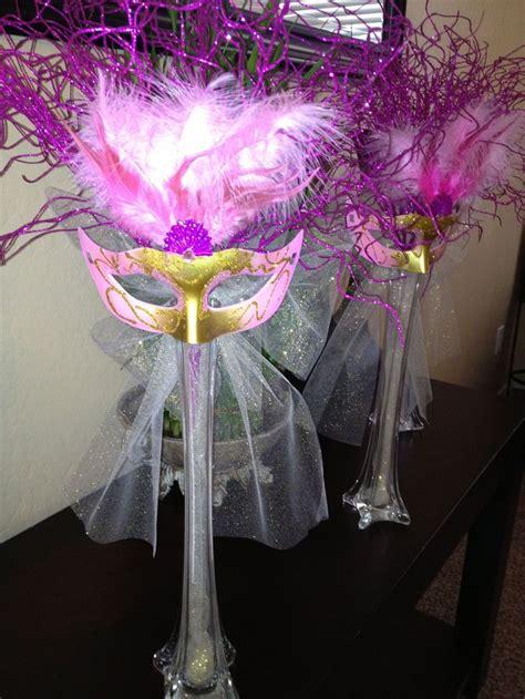 masquerade centerpieces wedding