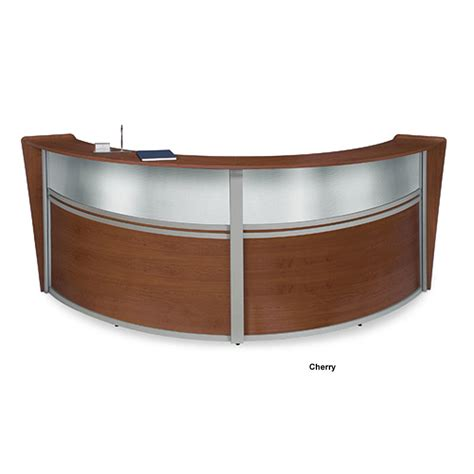 Ofm Reception Desk Ofm Marquee Plexi Reception Station Various Finishes Ofm 55312