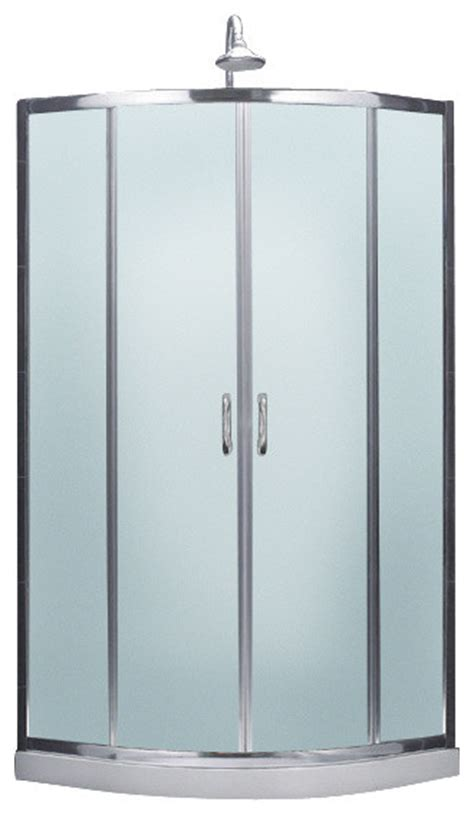Shower Enclosure Kits by Prime Frameless Sliding Shower Enclosure And Slimline Quarter Shower Base Modern