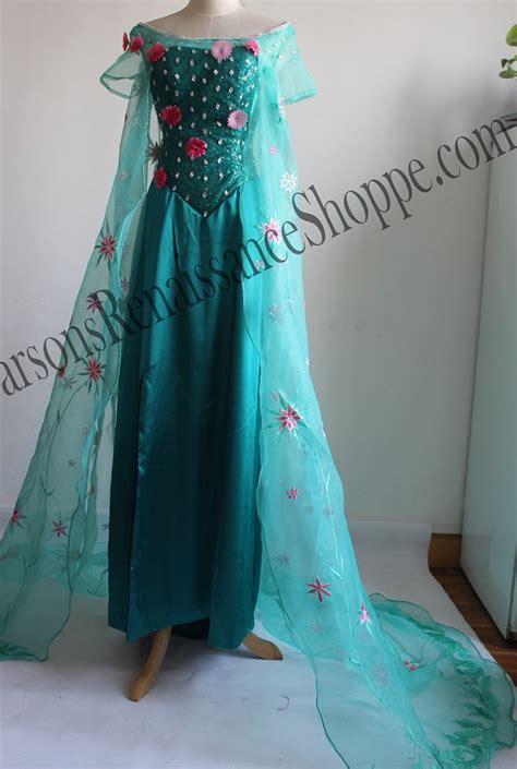 Set Gamis Frozen Elsa No 1 1 2thn frozen fever elsa embroidery dress set