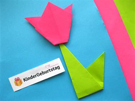 Blume Falten Kindergarten by Blume Basteln Und Falten Anleitungen F 252 R Tulpen Lilien