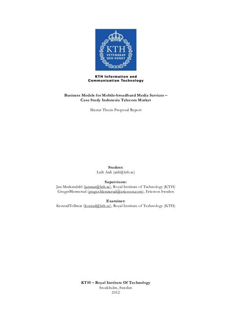 Mba Master Thesis Themen by Master Thesis Business Models For Mobile