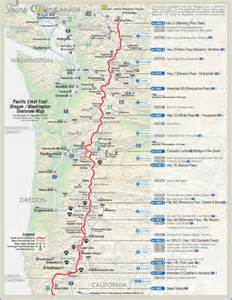 pacific crest trail oregon map pacific crest trail map washington map travel