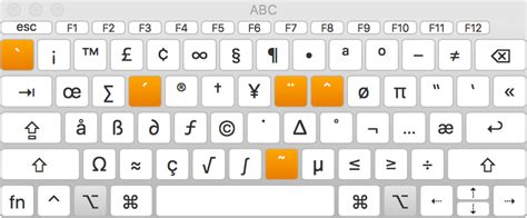 keyboard layout dead keys macos sierra enter characters with accent marks